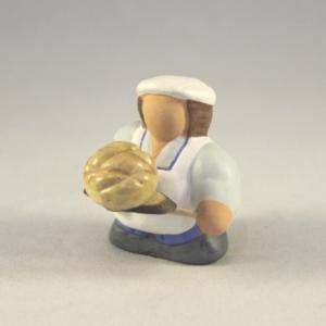 Boulanger et sa miche de pain