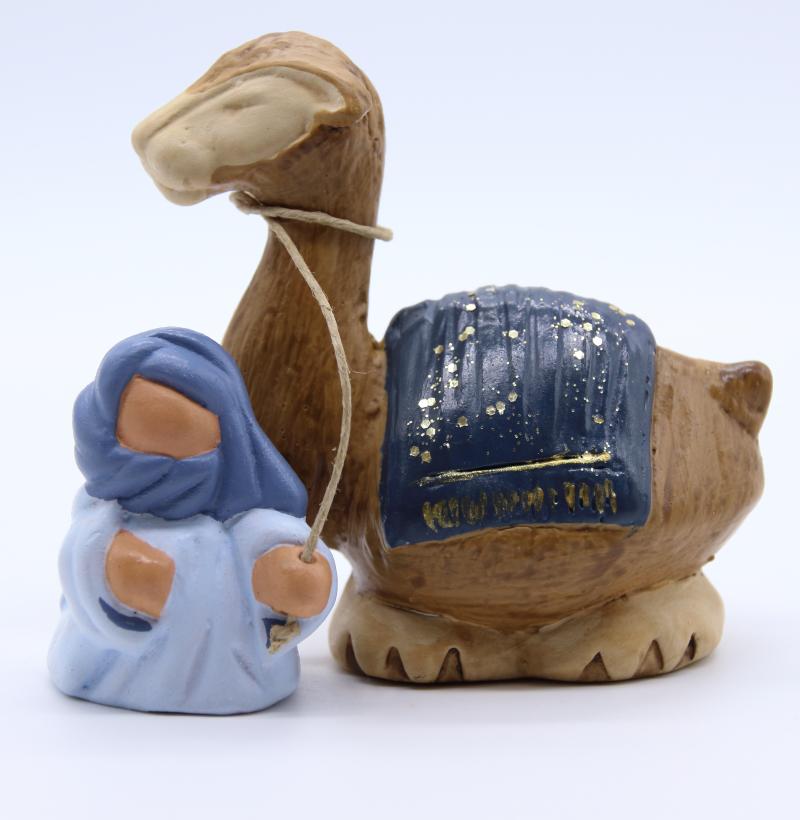 Bedouin et dromadaire bleu nuit produit nativités