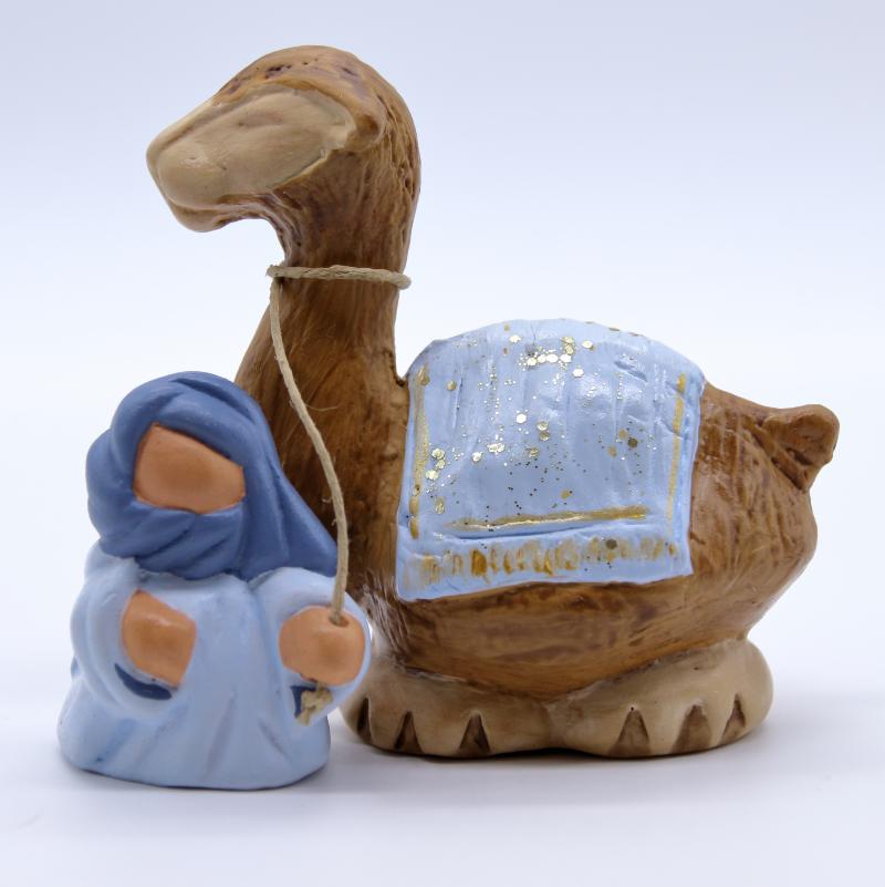 Bedouin et dromadaire bleu onde produit nativités