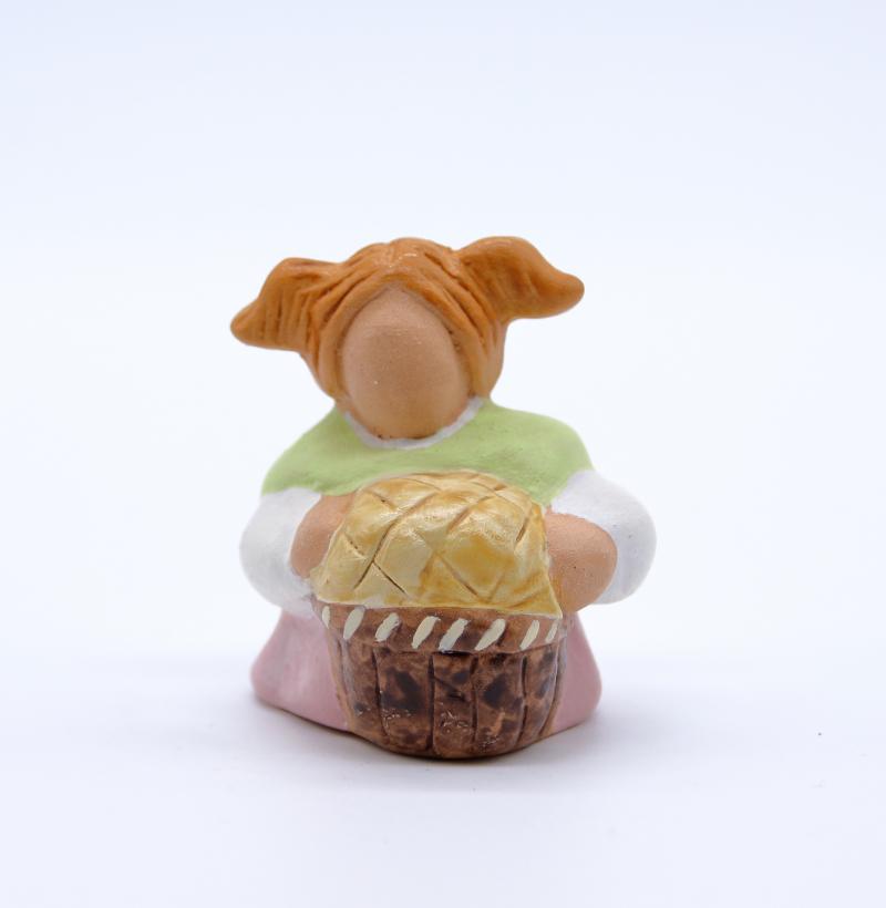 Boulangere face produit santons