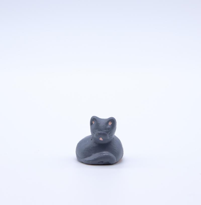 Chat gris face produit petits animaux
