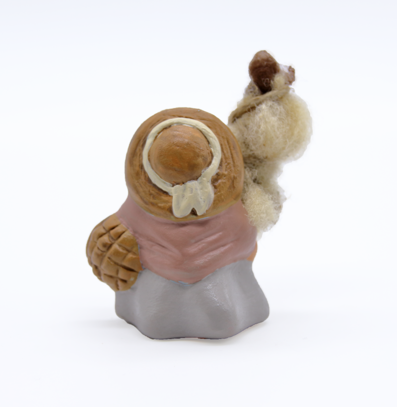 Fileuse et sa quenouille dos produit santons