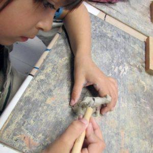 Ateliers paysages - Interventions dans les écoles - Santons Cristine Darc