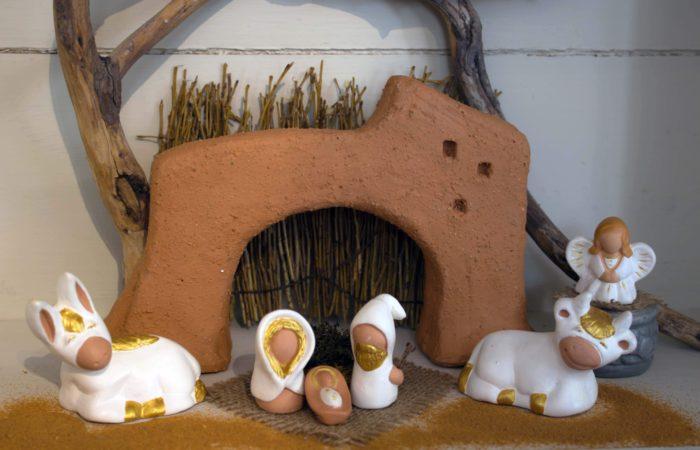 La collection - scènes - 9 Nativité blanche