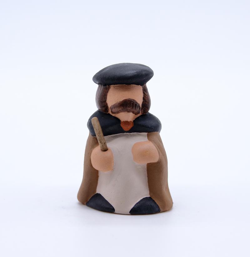 Frederic le berger face produit santons