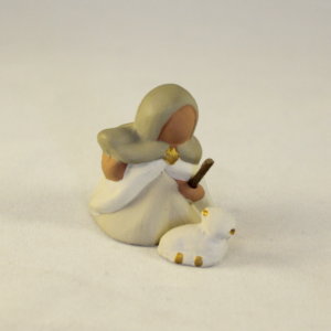 Bergère et son agneau – Collection blanche