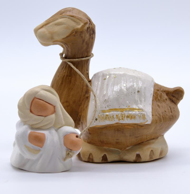 Bedouin et dromadaire blanc produit collection blanche