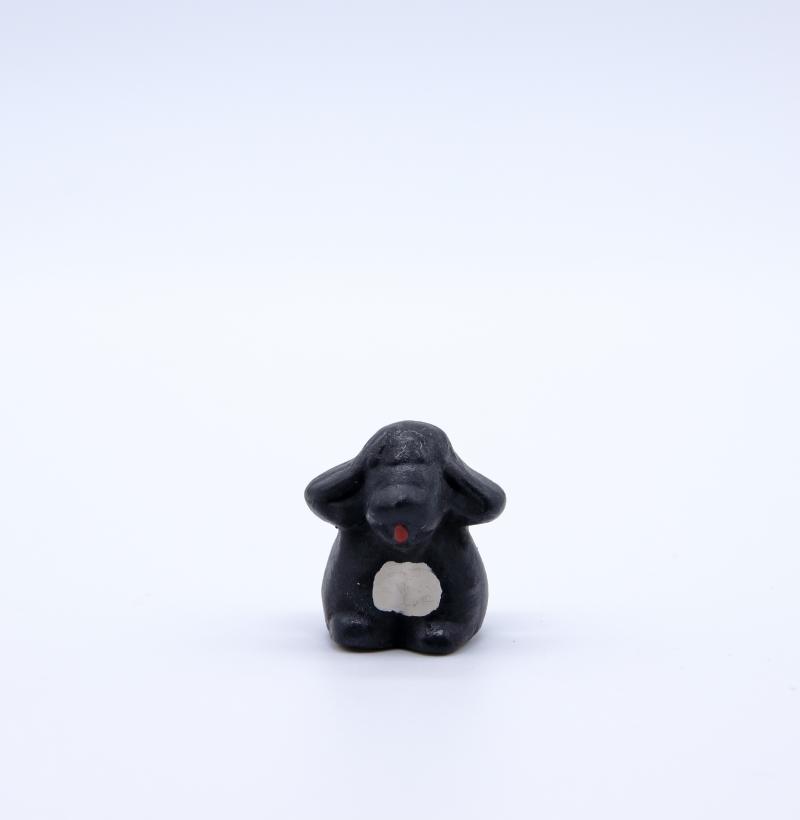 chien noir face produit petits animaux