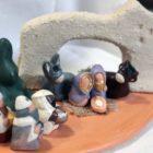 1- Ensemble nativité, arche grès du Ténéré sur plaque