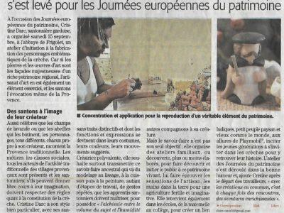 article Midi Libre Atelier Frigolet
