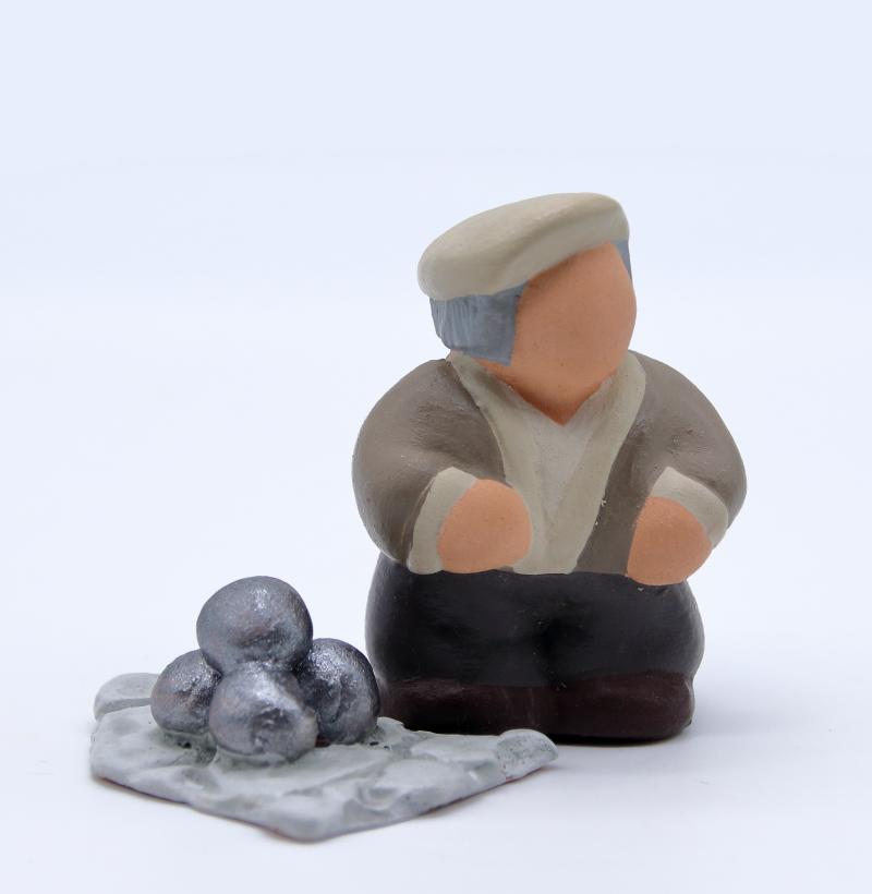 Papé et ses boules produit santons