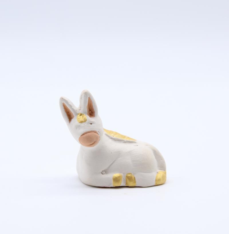 Ane Blanc Produit Creche Miniature Collection Blanche