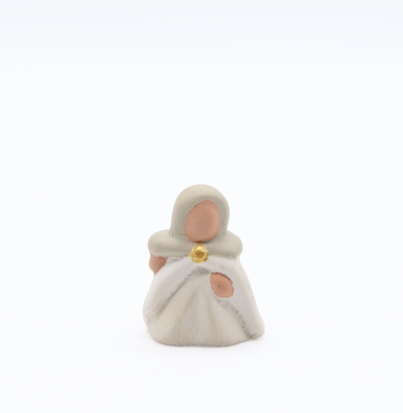 Bergere produit creches miniatures blanches