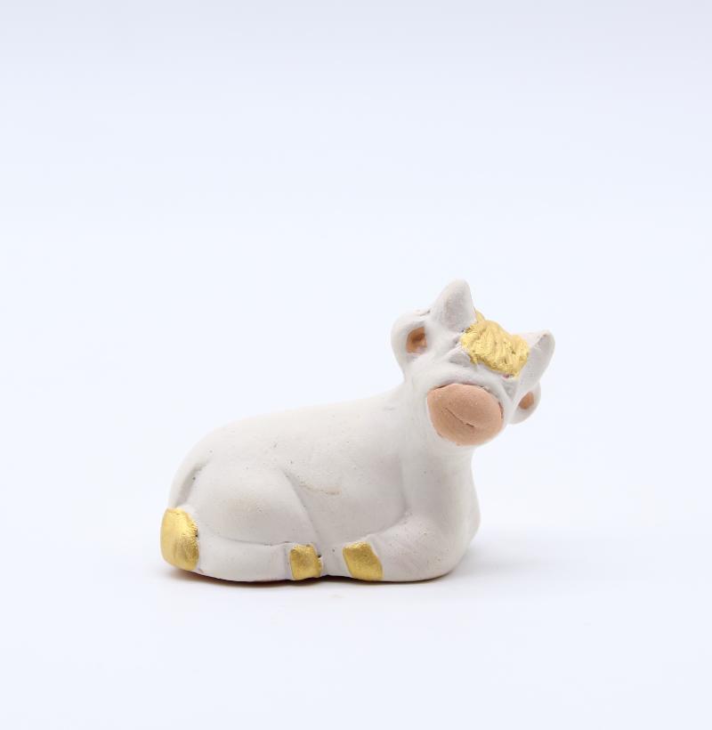 Boeuf de creche produit creches miniatures blanches