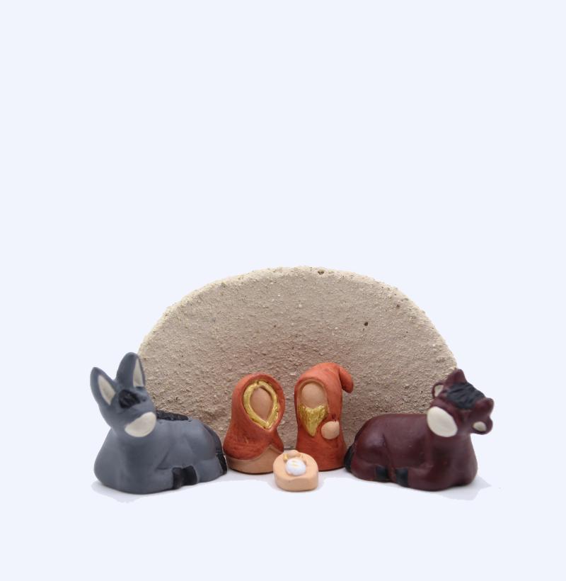 Etable Grès Du Tenéré + Nativité Produit Etables Miniatures