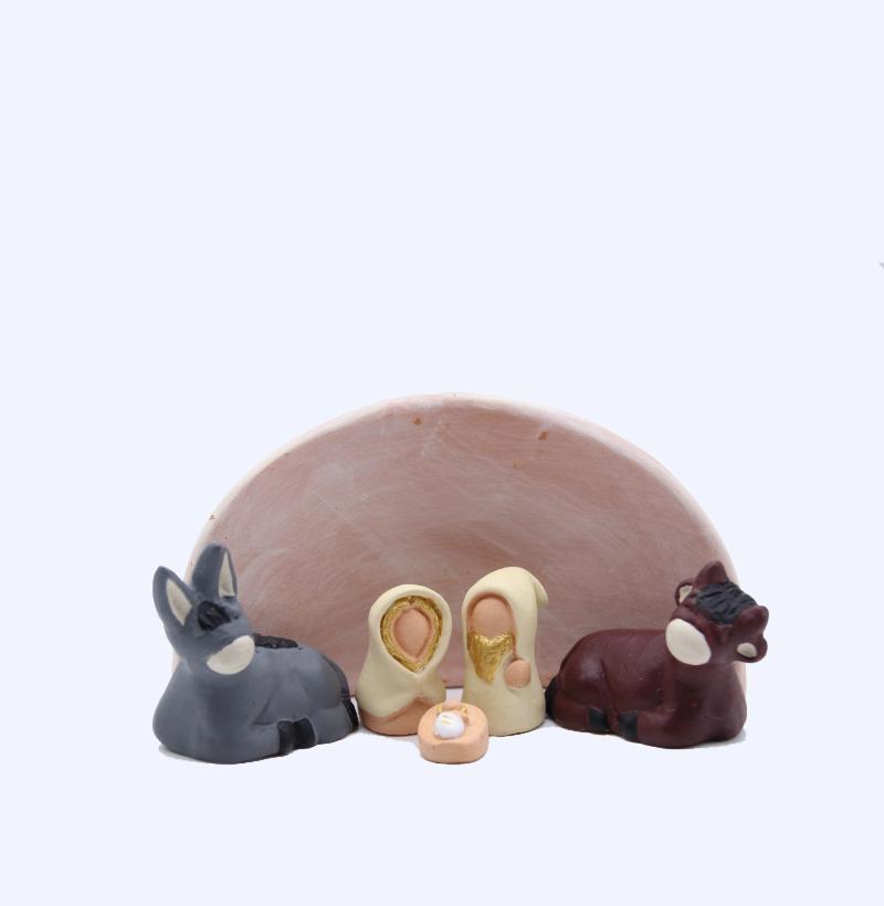 Etable Rose + Nativité Produit Etables Miniatures