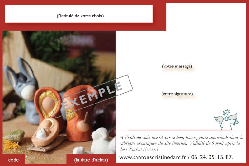 Bon Cadeau Santons Rouge Légendé Page 1