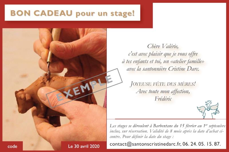 Bon Cadeau Stage Rouge Page 1