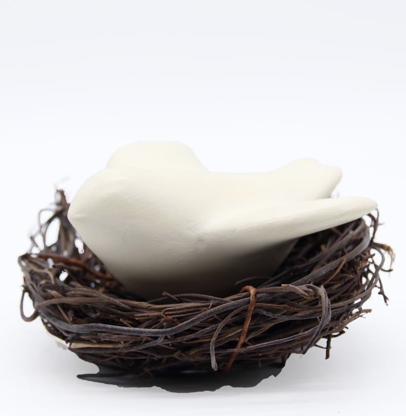 Colombes dans son nid produit autres créations-sans echelle