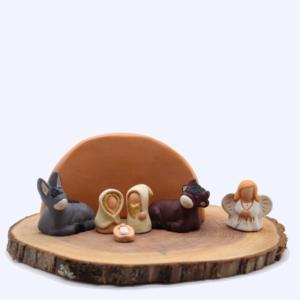Composition crèche miniature sans arbre