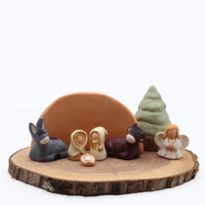 Composition crèche miniature