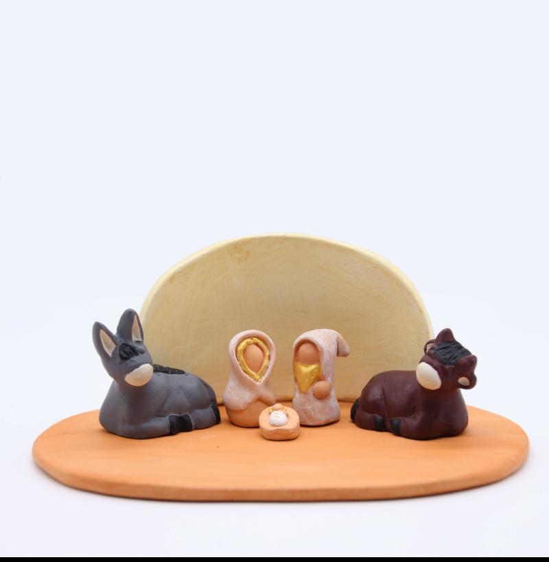 Plaque Brute Et Abri Vanille + Nativité Produit Etables Miniatures