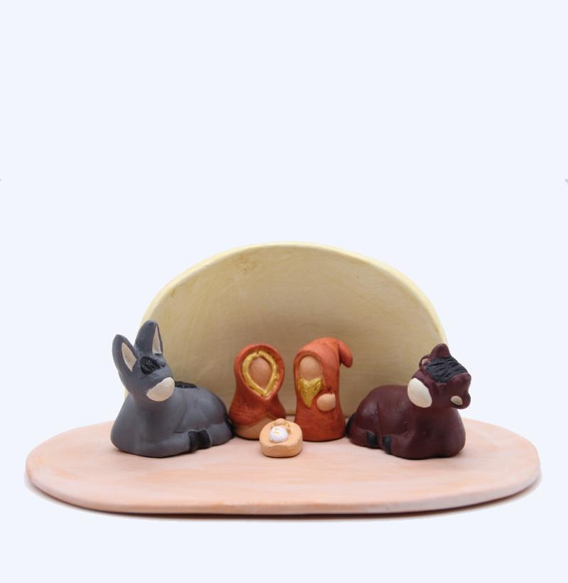 Plaque Rose Et Abri Vanille + Nativités Produit Etables Miniatures