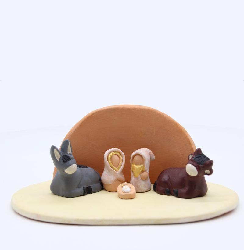Plaque Vanille Et Abri Brut + Nativité Produit Etables Miniatures