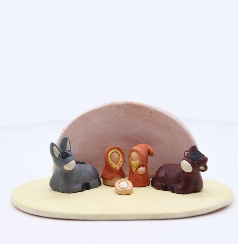 Plaque Vanille Et Abri Rose + Nativite Produit Etables Miniatures