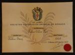 certificat monaco