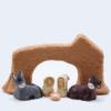 Arche Brute Grosse Chamotte Ave Nativité Produit Etables Miniatures