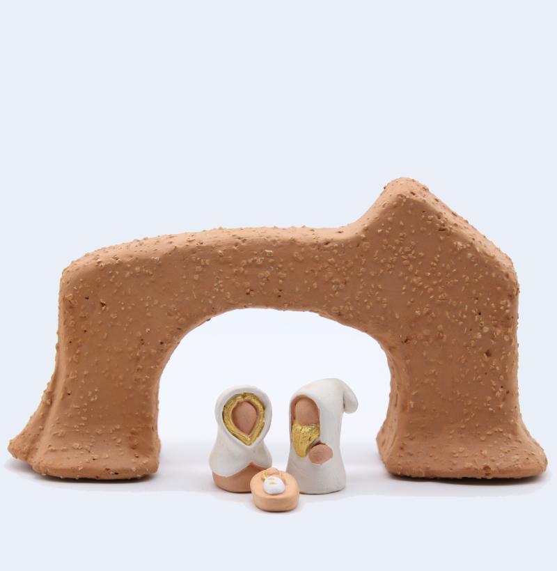 Arche Et Sainte Famille Collection Blanche Produit Santons Miniatures