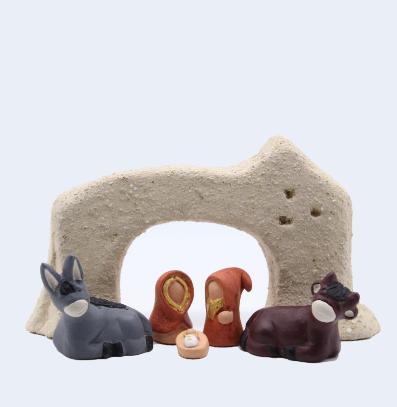 Arche Grès Du Ténéré Avec Nativité Produit étables Miniatures