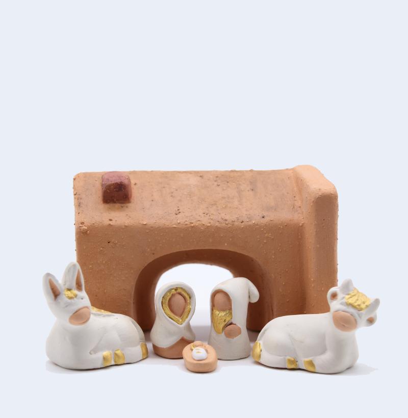 Etable Et Nativité Collection Blanche Produit Santons Miniatures