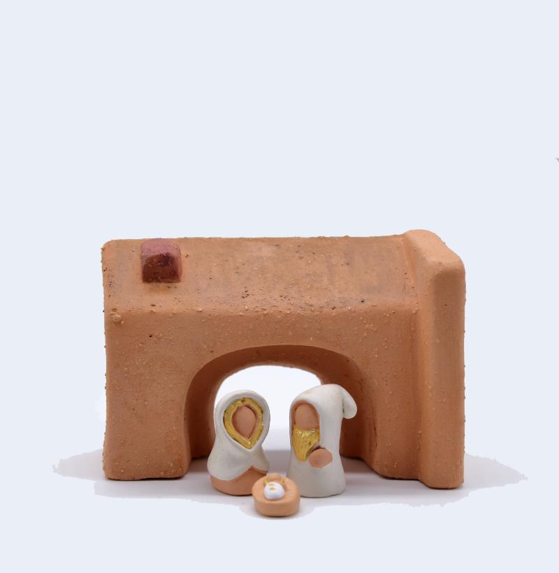 Etable Et Sainte Famille Collection Blanche Produit Santons Miniature