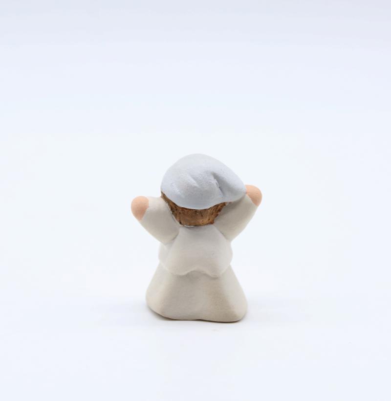 Ravi Blanc Dos Produit Nouveautés Creche Miniature