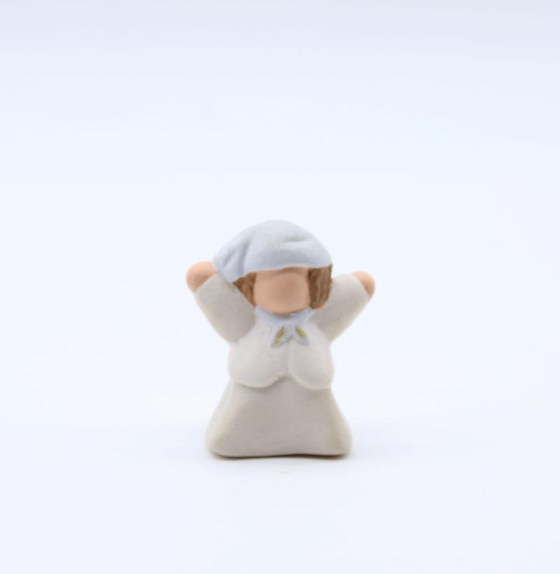 Ravi Blanc Produit Nouveautés Crèche Miniature