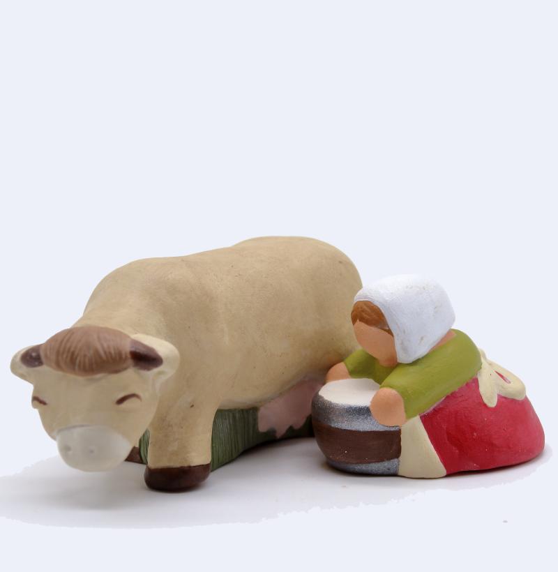 Traite De La Vache Beige Fermière Claire Produits Santons