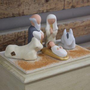 Nativité avec sa boite de présentation et de rangement