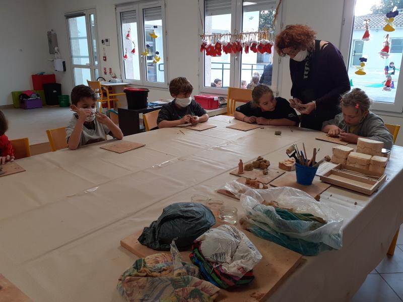 Atelier dans l'école Charles Péguy à Bouillargues