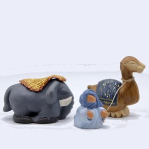 Eléphant tapis, dromadaire et bédouin